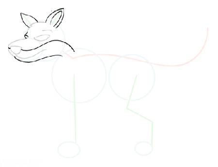 آموزش تصویری نقاشی گرگ برای کودکان