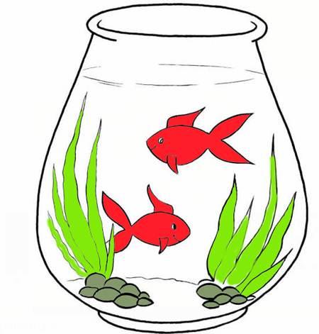 نقاشی های کودکانه تنگ ماهی ویژه عید نوروز 96