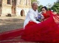 مراسم ازدواج جالب دختر کوتوله با این مرد