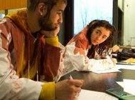 فیلم ترسناک خام و دادن پلاستیک تهوع در سینما