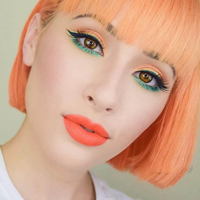 مدل آرایش صورت فانتزی از Rosalina Young