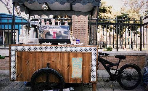رونق گرفتن کافه های سیار در تهران