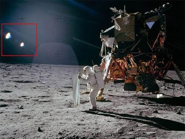 رویت سفینه موجودات فضایی در کره ماه توسط فضانوردان