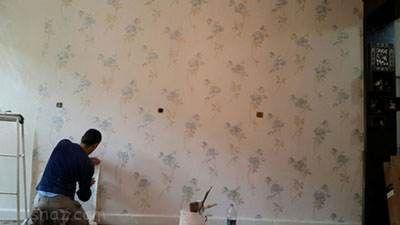 روش استفاده از کاغذ دیواری در خانه استیجاری