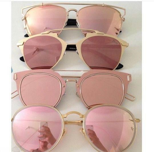 انواع مدل های عینک آفتابی rosegold