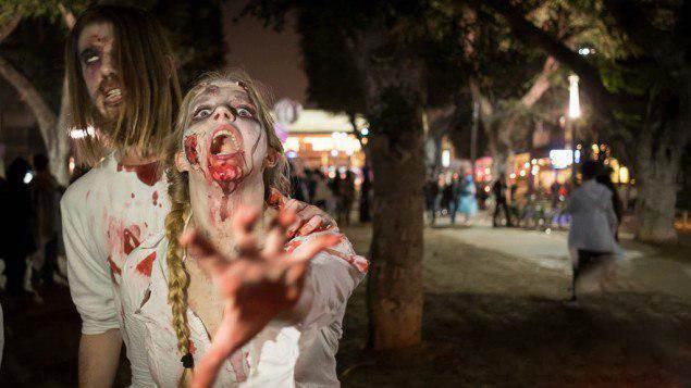 دختران و پسران اسرائیلی در فستیوال زامبی ها