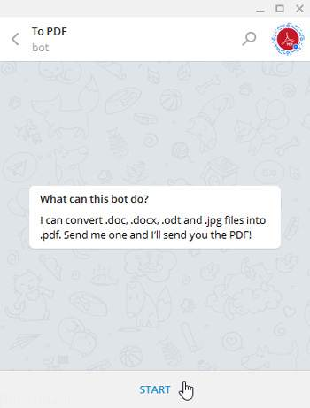 ترفند ساخت فایل پی دی اف در تلگرام