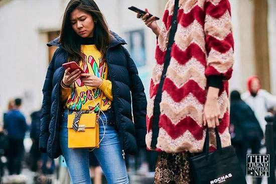 تیپ های جذاب در هفته مد لباس خیابانی پاریس