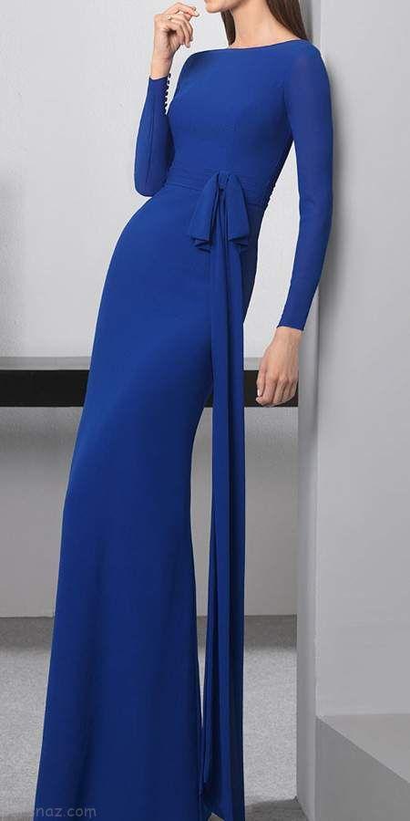 مدل های جدید لباس مجلسی به رنگ سورمه ای