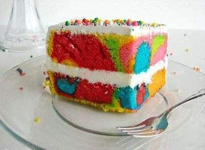با هم کیک رنگین کمانی خوشمزه درست کنیم
