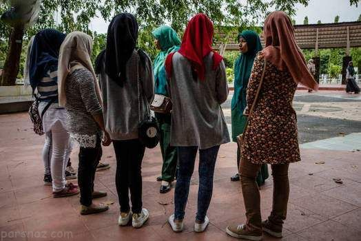 گشت ارشاد برای دختران با پوشش نامناسب در اندونزی