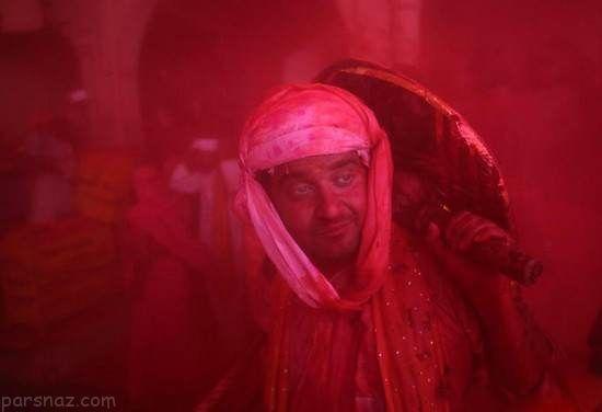 عکس های دیدنی از فستیوال هولی در هندوستان
