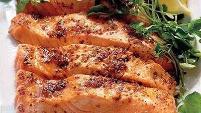 آموزش تهیه ماهی سالمون و رویه خردل خوشمزه