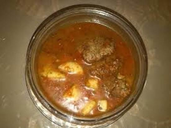 آموزش قاتق گوشت غذای خوشمزه کرمانی