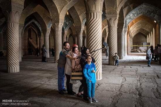 مسجد وکیل شیراز میزبان گردشگران نوروزی