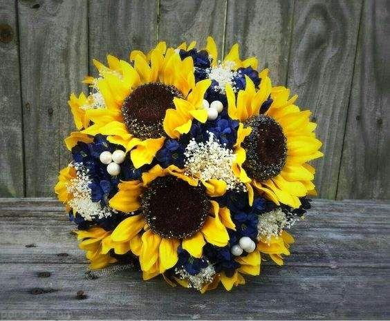 تزیینات عقد و عروسی با استفاده از گل آفتابگردان