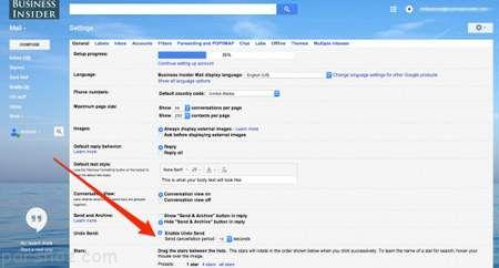 ترفند مفید لغو ایمیل فرستاده شده در جیمیل