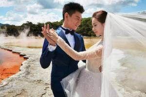 جشن ازدواج عاشقانه دوبازیگر مشهور در جزایر اندونزی