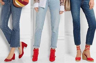 ست کردن شلوار جین زنانه و کفش های شیک