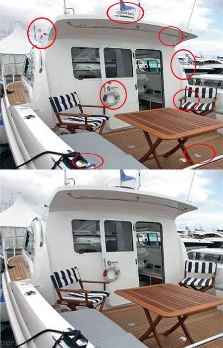 تست هوش جالب یافتن تفاوت ها در عکس قایق