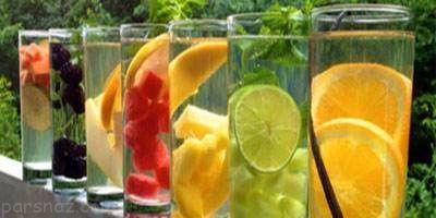 آموزش تهیه آب طعم دار خانگی خوشمزه