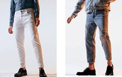 انواع مدل های شلوار جین مردانه برند zara