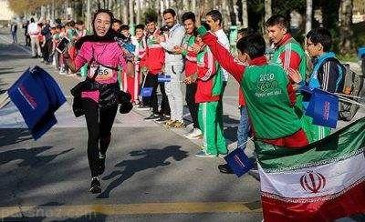 دو ماراتن زنان و مردان ایرانی و خارجی در تهران