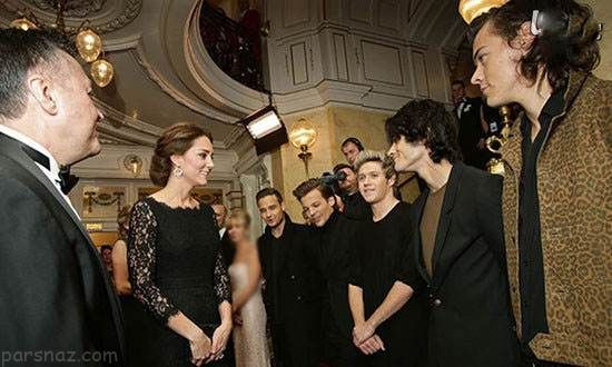 ستاره های مشهور در کنار خانواده های سلطنتی