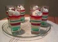 آموزش تهیه ژله بستنی لیوانی دورنگ خوشمزه