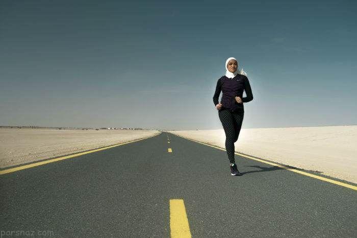 دختر ورزشکار دلیل تولید لباس اسلامی نایک