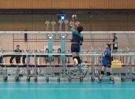 مسابقه تیم والیبال ژاپن با ربات های پیشرفته