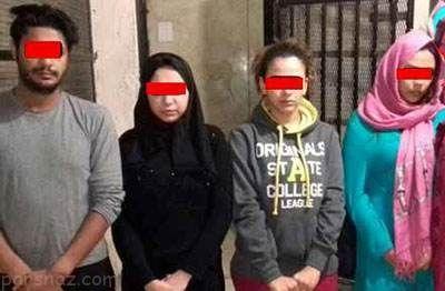 احمد و یاسمن مدیران خانه فساد همراه با دختران بدکاره