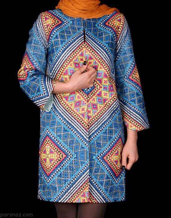 مدل های مانتو ایرانی بهار و تابستانی برند داوین