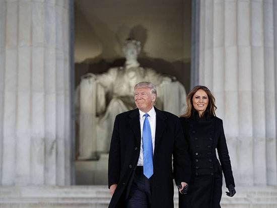 اولین حضور رسمی ملانیا ترامپ در کاخ سفید +عکس