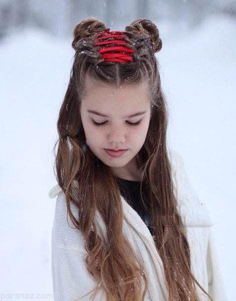 انواع مدل های جدید شینیون مو دخترانه زیبا