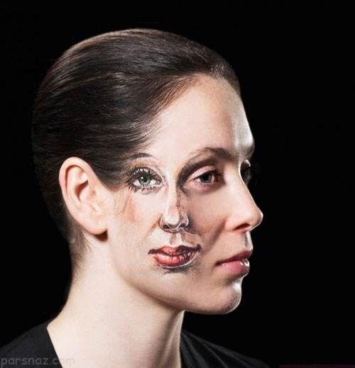 نقاشی های سه بعدی روی بدن و اندام این دختر