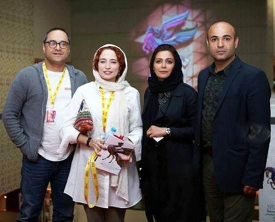 رامبد جوان در کنار نگار جواهریان در جشنواره جهانی فجر