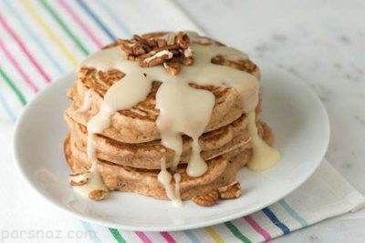 طرز تهیه پنکیک دارچینی خوشمزه برای صبحانه