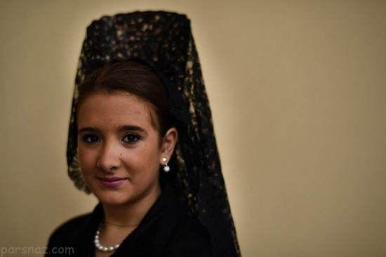 زنان و مردان در مراسم عید پاک مسیحیان