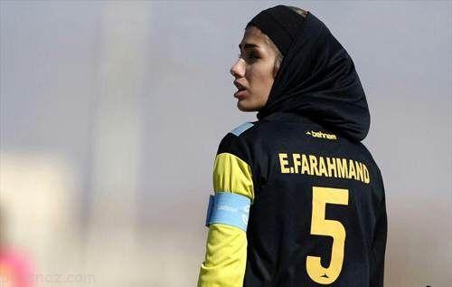 دختر فوتبالیست ایرانی که لقب دیوید بکهام دارد