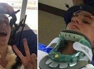 ماجرای عجیب زنی که عطسه کردن و گردنش شکست