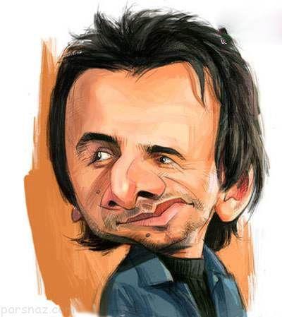 کاریکاتورهای دیدنی و طنز بازیگران مشهور ایرانی