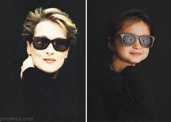 دختری که کپی زنان مشهور در جهان است