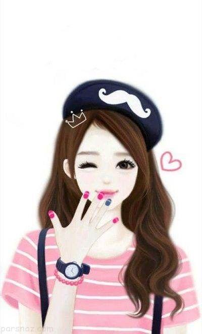 عکس پروفایل های دخترانه زیبا به شکل کارتونی