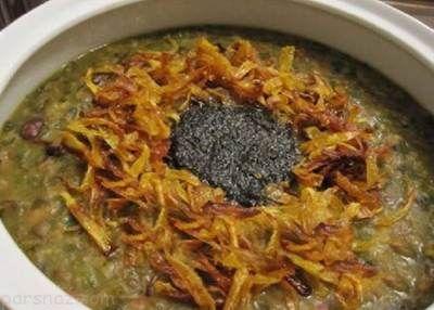 آموزش درست کردن آش سبزی مخصوص افطار