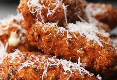 آموزش درست کردن لقمه های پنیری مرغ سوخاری