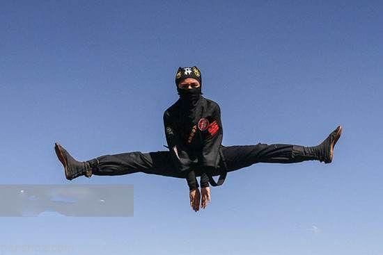 عکس های جالب از حرکات دختران ایرانی نینجا در بروجرد