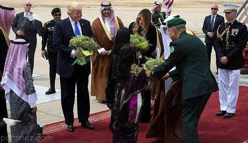 عکس های ایوانکا و ملانیا ترامپ در سفر به عربستان