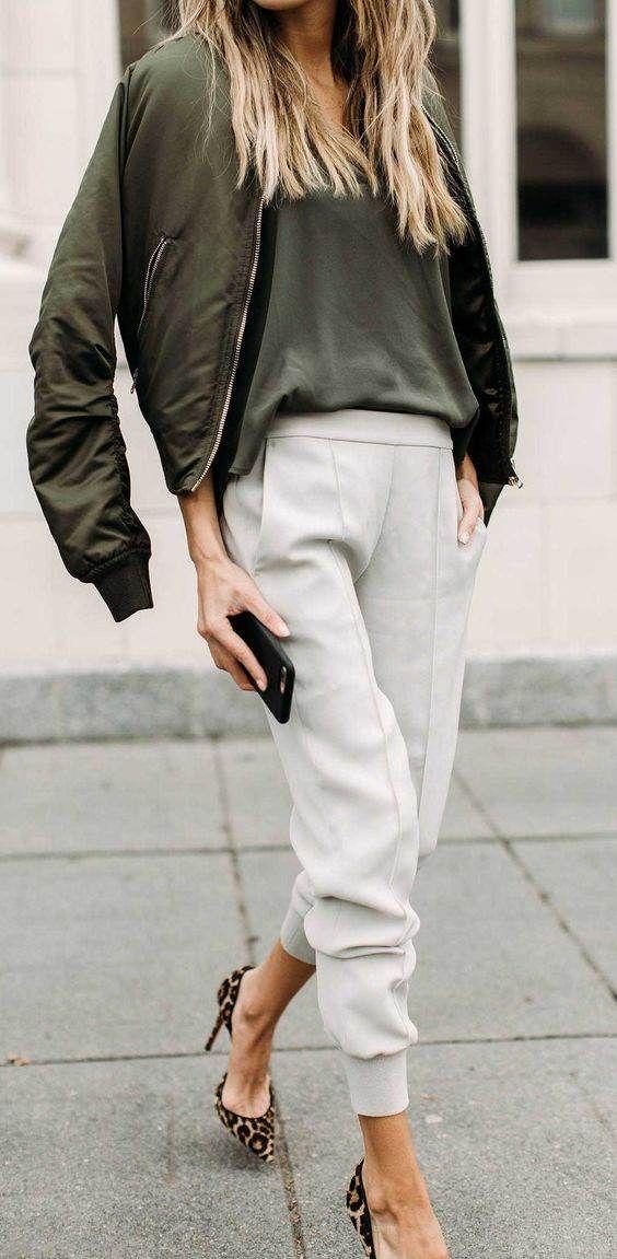 مدل های شلوار زنانه رنگ سبز مد سال 2019