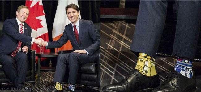جوراب های رنگارنگ نخست وزیر کانادا جنجالی شد